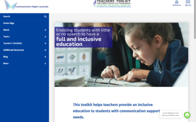 Communication Rights Launches Teachers' Toolkit For Students With Little Or No Speech